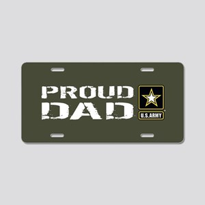 U.S. Army: Proud Dad (Milit Aluminum License Plate