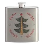 Folk Art Christmas Tree Flask