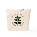 Folk Art Christmas Tree Tote Bag