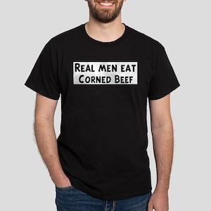 Men eat Corned Beef T-Shirt