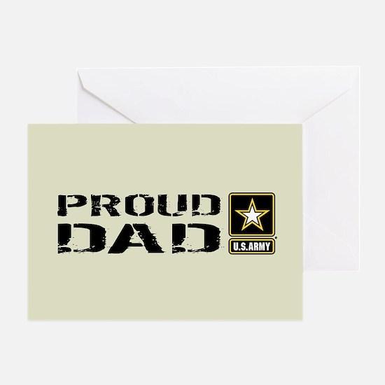 U.S. Army: Proud Dad (Sand) Greeting Card