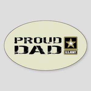 U.S. Army: Proud Dad (Sand) Sticker (Oval)