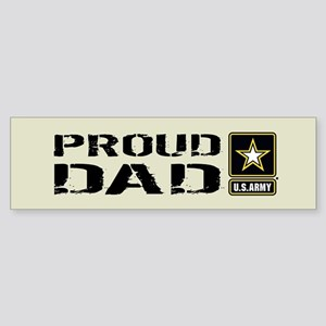 U.S. Army: Proud Dad (Sand) Sticker (Bumper)