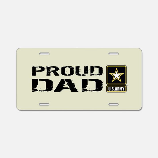 U.S. Army: Proud Dad (Sand) Aluminum License Plate
