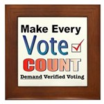Make Every Vote Count Framed Tile
