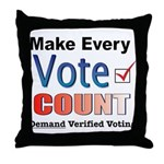 Make Every Vote Count Throw Pillow