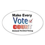 Make Every Vote Count Oval Sticker