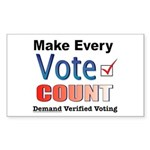 Make Every Vote Count Rectangle Sticker