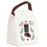 Folk Art Christmas Stocking Canvas Lunch Bag