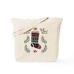 Folk Art Christmas Stocking Tote Bag