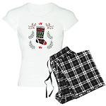 Folk Art Christmas Stocking Pajamas