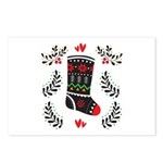 Folk Art Christmas Postcards (package Of 8)