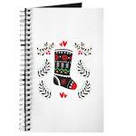 Folk Art Christmas Stocking Journal