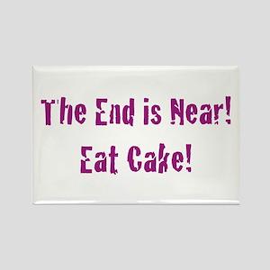 Eat Cake Rectangle Magnet