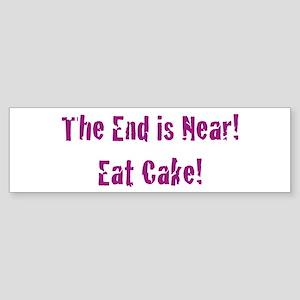 Eat Cake Bumper Sticker