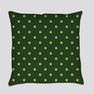Polka Dot Pattern: Yellow & Green Everyday Pillow