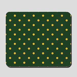Polka Dot Pattern: Yellow & Green Mousepad