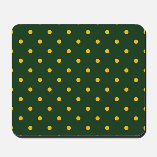 Polka Dot Pattern: Yellow & Green Mousepad
