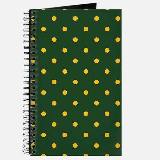 Polka Dot Pattern: Yellow & Green Journal