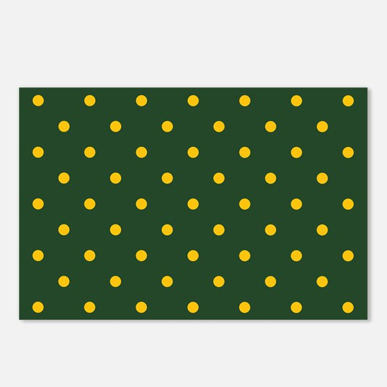 Polka Dot Pattern: Yellow Postcards (Package of 8)