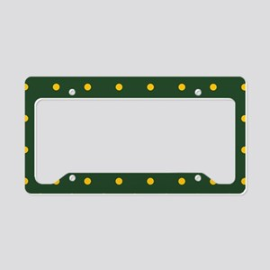 Polka Dot Pattern: Yellow & G License Plate Holder