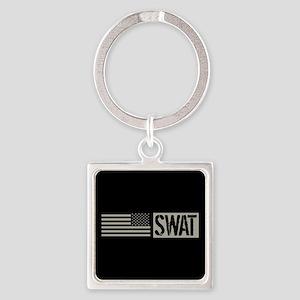 Police: SWAT (Black Flag) Square Keychain