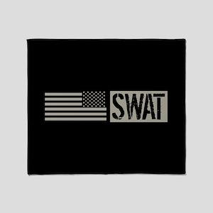 Police: SWAT (Black Flag) Throw Blanket