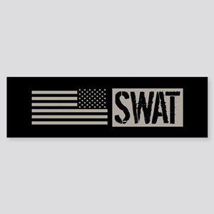 Police: SWAT (Black Flag) Sticker (Bumper)