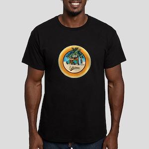 Woodie Gone Surfing Men's Fitted T-Shirt (dark)