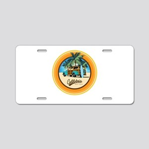 Woodie Gone Surfing Aluminum License Plate