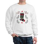 Folk Art Christmas Stocking Sweatshirt