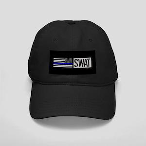Police: SWAT (Black Flag Blue Line) Black Cap