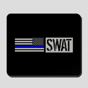 Police: SWAT (Black Flag Blue Line) Mousepad