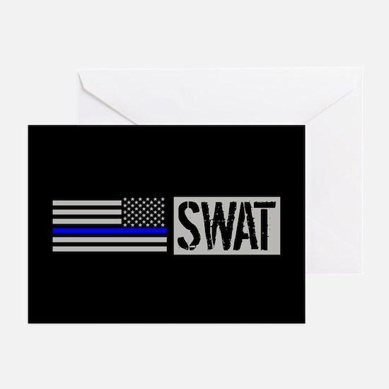 Police: SWAT (Black Flag Greeting Cards (Pk of 20)