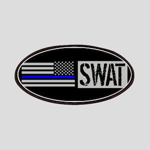 Police: SWAT (Black Flag Blue Line) Patch