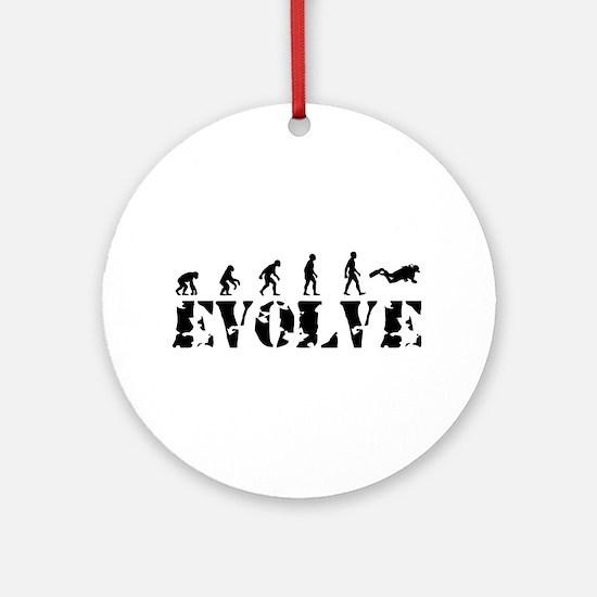 Scuba Diving Evolution Ornament (Round)