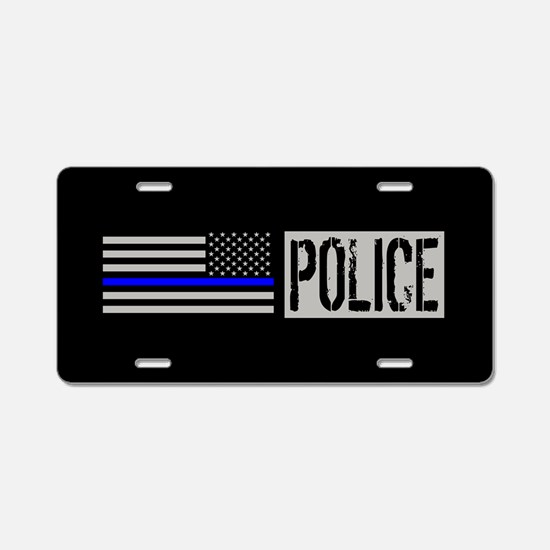 Police: Police (Black Flag, Aluminum License Plate