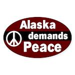 Alaska Demands Peace Bumper Sticker
