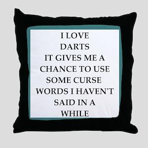 dart,darts Throw Pillow