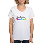 Celebrate Neurodiversity 2 Women's V-Neck T-Shirt