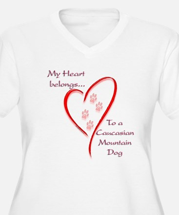 Caucasian Heart Belongs T-Shirt