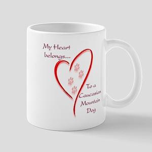 Caucasian Heart Belongs Mug