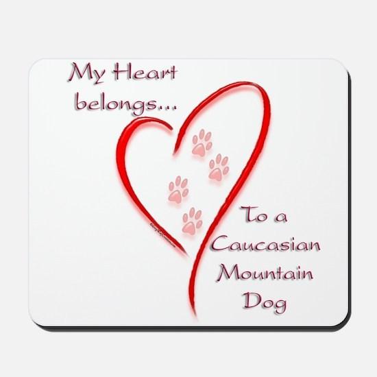 Caucasian Heart Belongs Mousepad