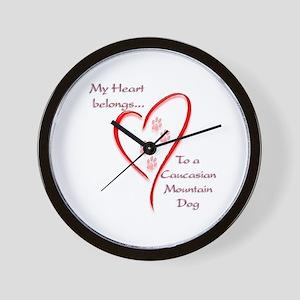 Caucasian Heart Belongs Wall Clock