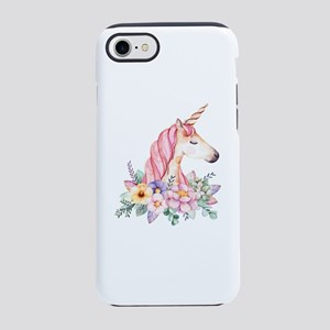 Pink Unicorn with Colorful F iPhone 8/7 Tough Case