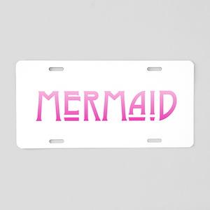 Mermaid - Pink Aluminum License Plate