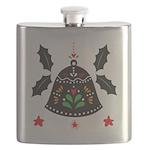 Folk Art Christmas Bell Flask