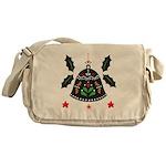 Folk Art Christmas Bell Messenger Bag