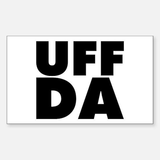 Uff Da Sticker (Rectangle 10 pk)