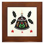 Folk Art Christmas Bell Framed Tile